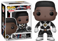 Pop! Television 672 Power Rangers: Zack - Black Ranger Unmasked